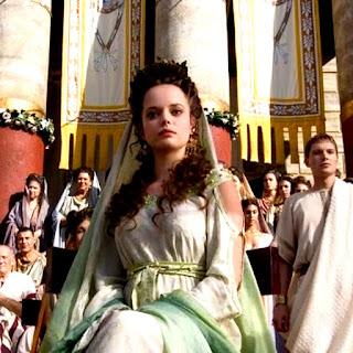 Cortesana romana, luciendo sus mejores galas para asistir a unas venationes
