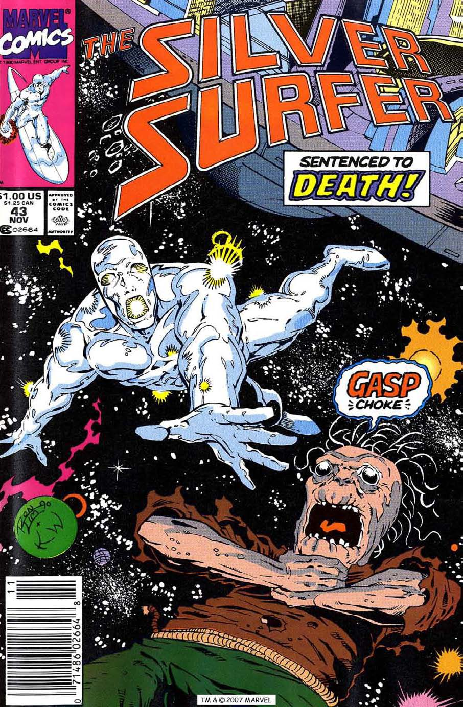 Read online Silver Surfer (1987) comic -  Issue #43 - 1
