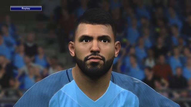 Kun Aguero Face (Manchester City) - PES 2016