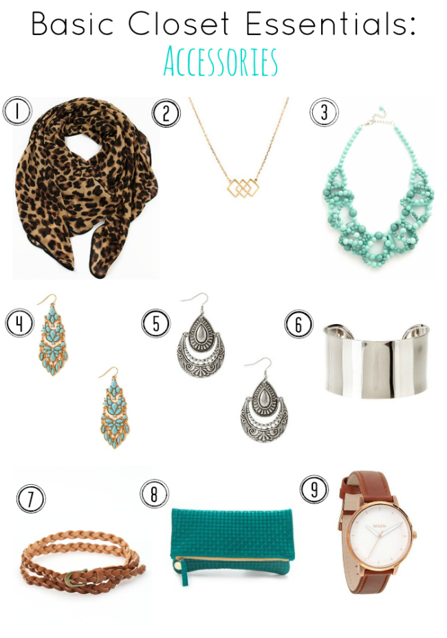 Update your closet- great ideas for accessory basics