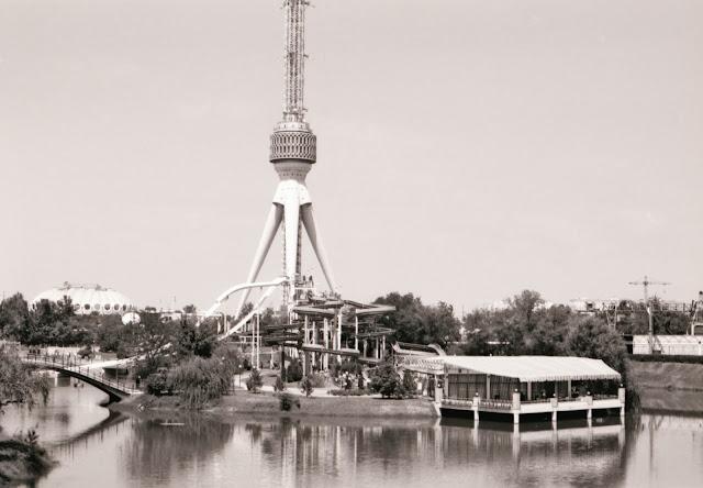 Ouzbékistan, Tachkent, Tour de la Télévision, parc aquatique, © L. Gigout, 1999