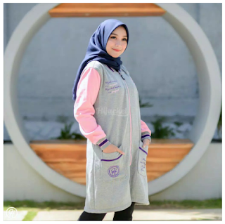 Hijacket Qadira All Siza M Fit L Warna Sky Pink Abu Abu