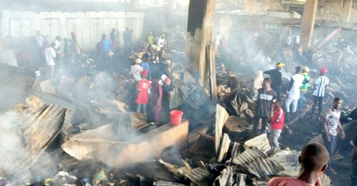 Midnight Fire Razes Hundreds Of Shops In Jos Main Market