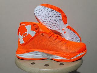Sepatu Basket Under Armour Fireshot Orange, toko sepatu basket, jual sepatu basket, harga basket under armour, under armour fireshot , UA fireshot premium
