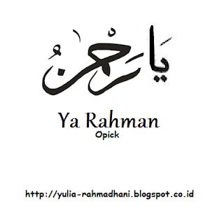Ya Rahman - Opick