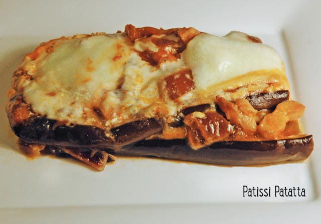 recettes d'aubergines en lasagnes, aubergines et mozzarella, comment cuisiner les aubergines, gratin d'aubergines