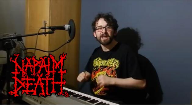 Músico realiza cover Napalm Death piano