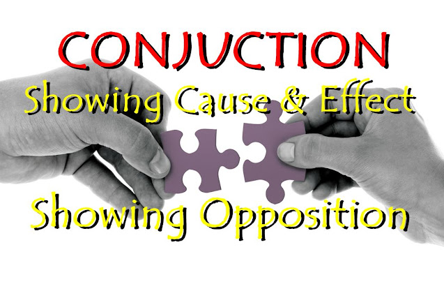 DBI | Conjunction showing cause, effect, and opposition