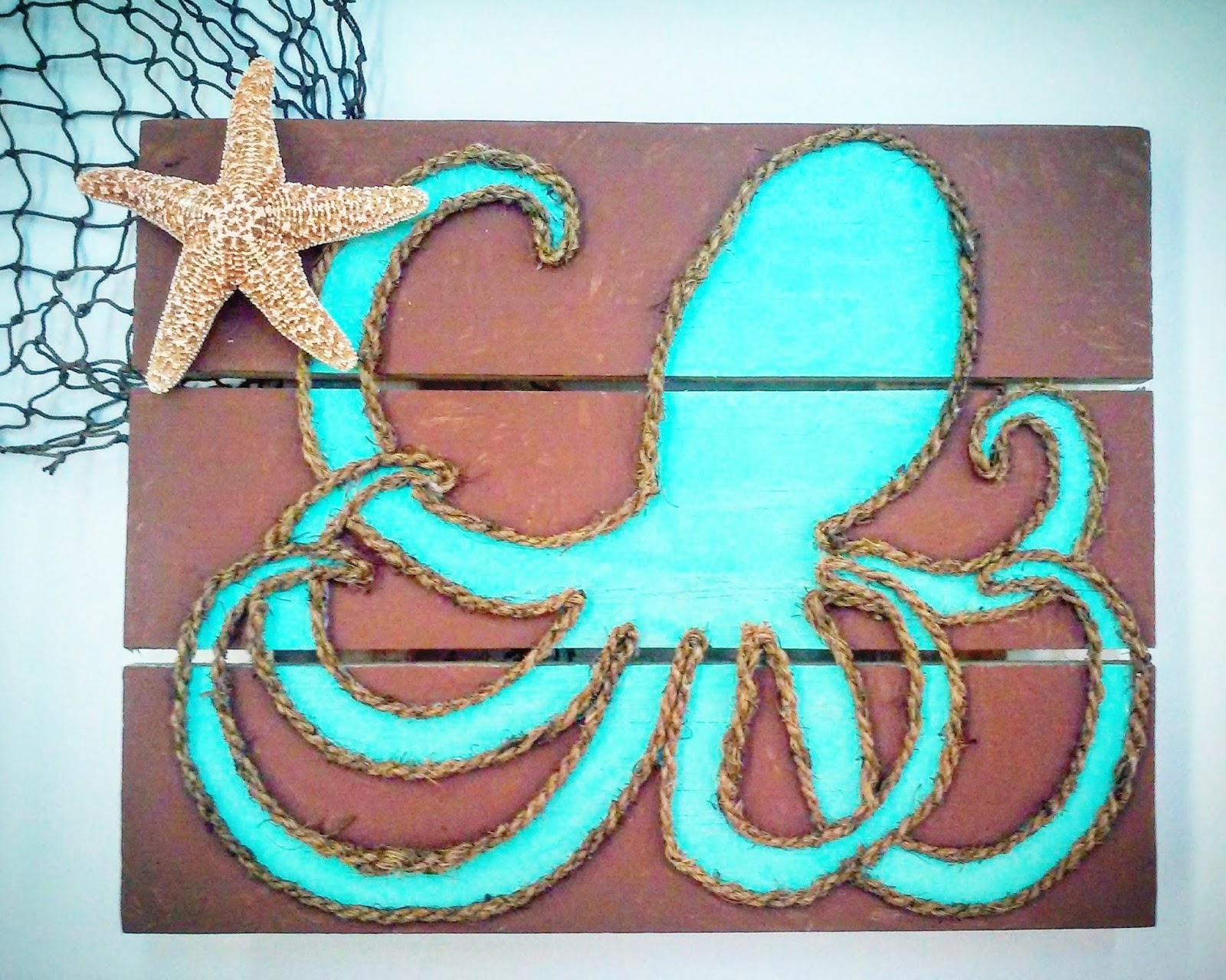 ideas and inspirations rope octopus wall art. Black Bedroom Furniture Sets. Home Design Ideas