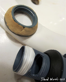 install sink drain with plumbers putty and tape, stop sink drain leak