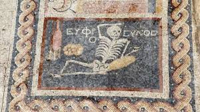 "(Photos) ""Be Cheerful, Enjoy Your Life"" Says 2,400 Year Old Ancient Greek Mosaic Found in Turkey"
