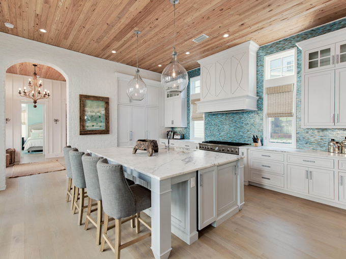 House of turquoise nest interior design for Beach kitchen design