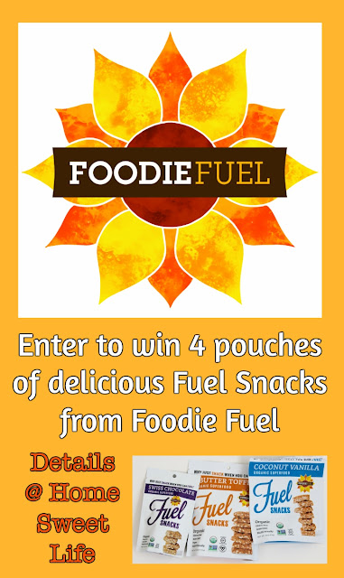 Foodie Fuel Snacks, giveaway, healthy snacks