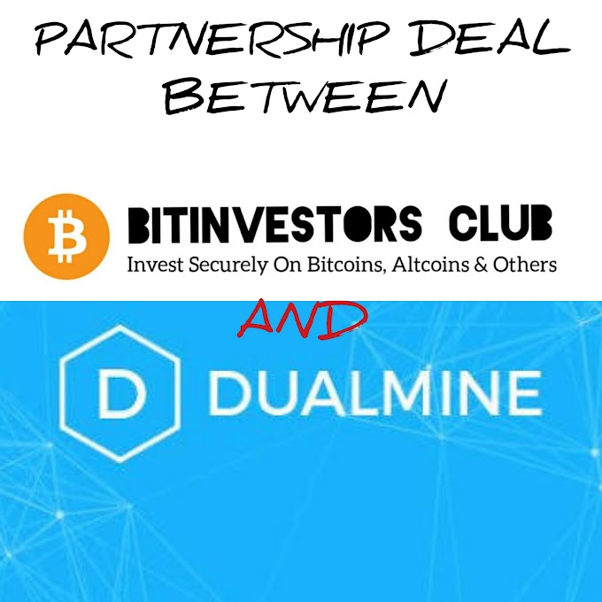 Partnership between Bitinvestors Club and DUALMINE - Invest In Insured cloud Mining Company