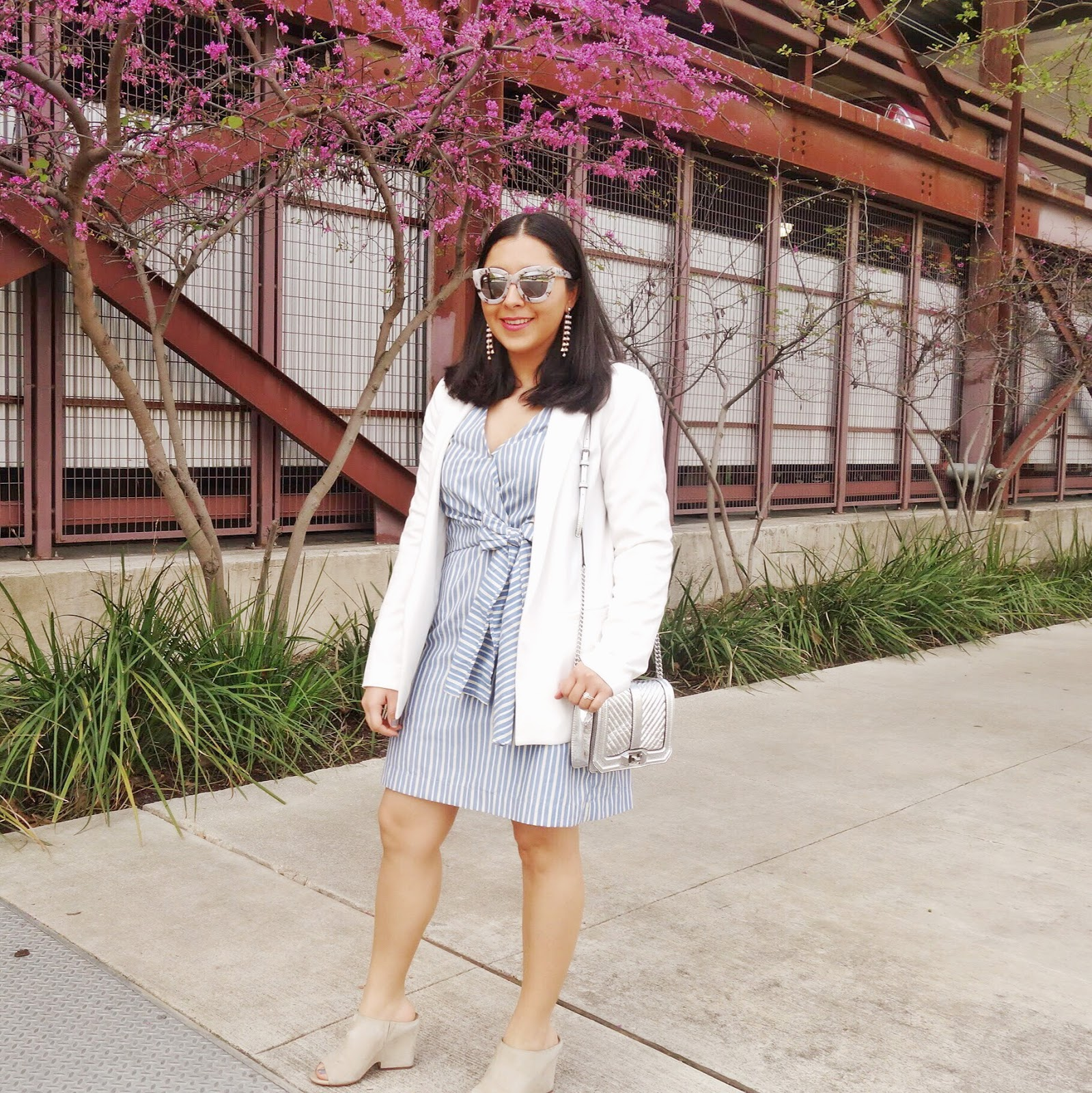wrap dress outfit mix and match