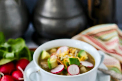 Pork Pozole Verde | Hominy and Pork Stew