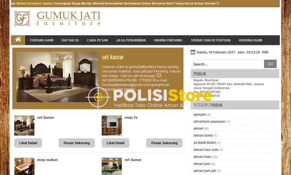 Gumuk Jati Jepara - Verifikasi Toko Online Aman dan Terpercaya - Polisi Store