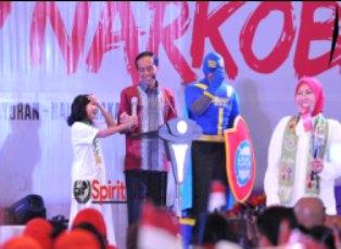 Presiden Jokowi,Hindari NarkobaTolak Pemberian Barang Dari Orang Tak Dikenal