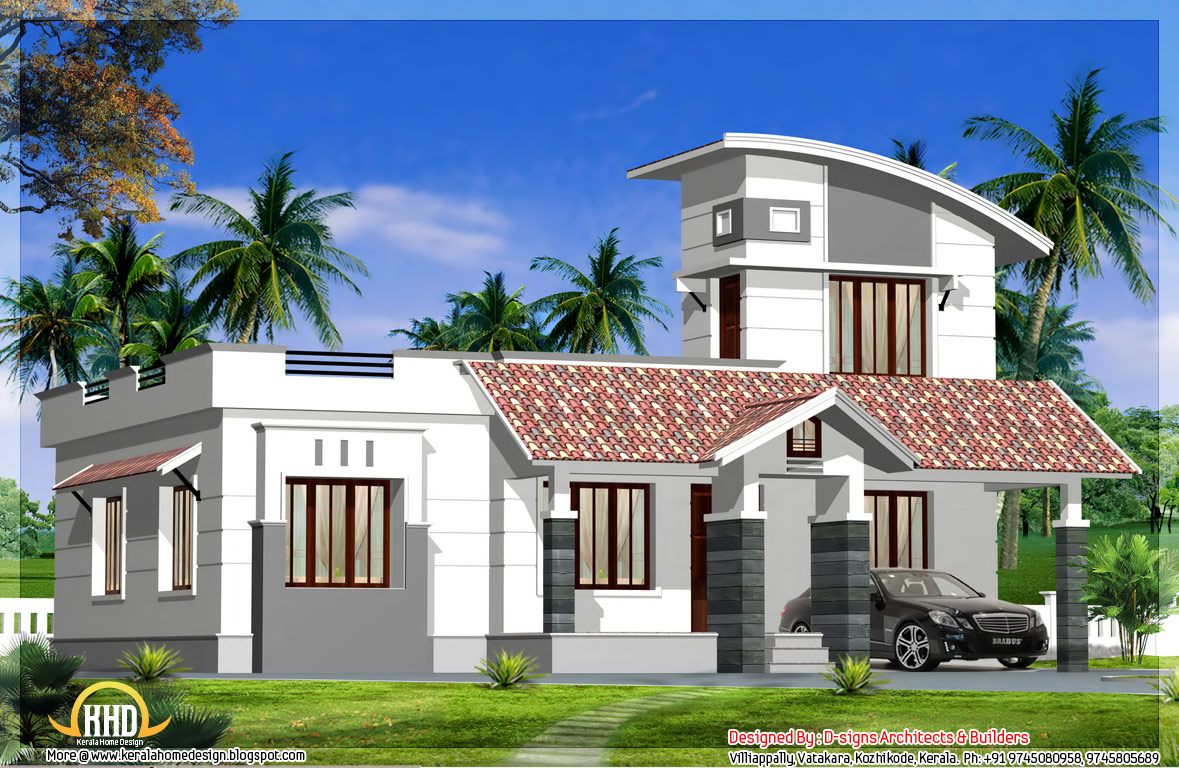 Single floor home design 1200 sq ft kerala home for Small house design 1200 square feet