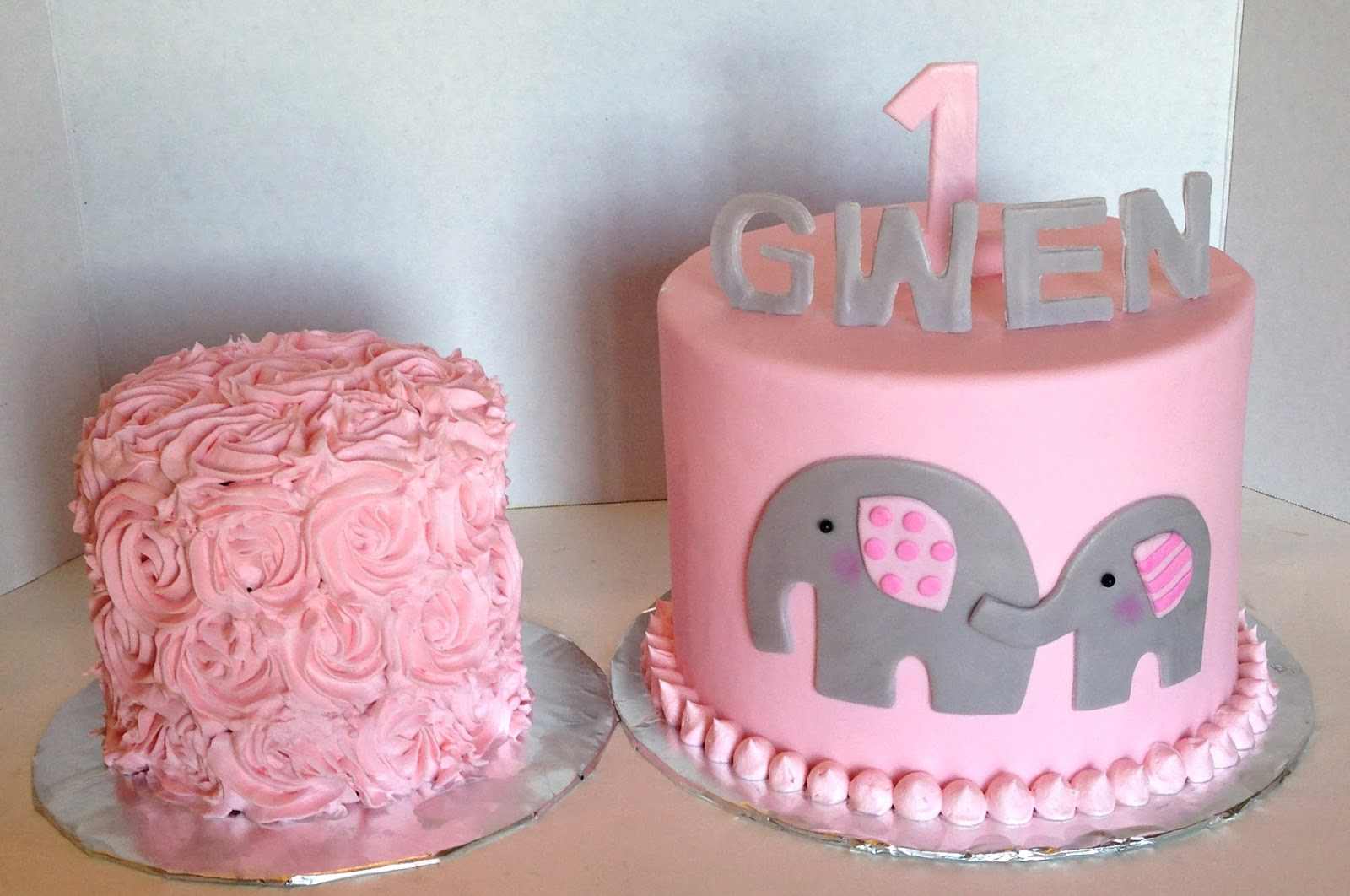 The Cake Market Pink And Grey Elephants