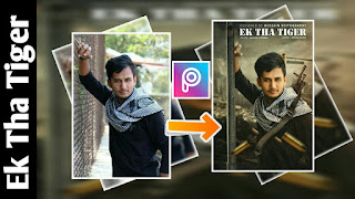 Picsart movie poster editing Easy movie poster manipulation TIGER ZINDA HAI MOVIE POSTER IN PICSART