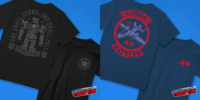 New York Comic Con 2018 Exclusive Super7 Transformers & G.I. Joe T-Shirt Collection