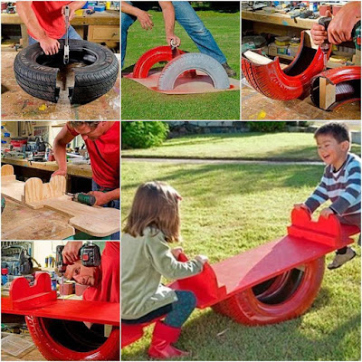 أفكار رائعة لاستخدام إطارات السيارات في تنسيق الحدائق