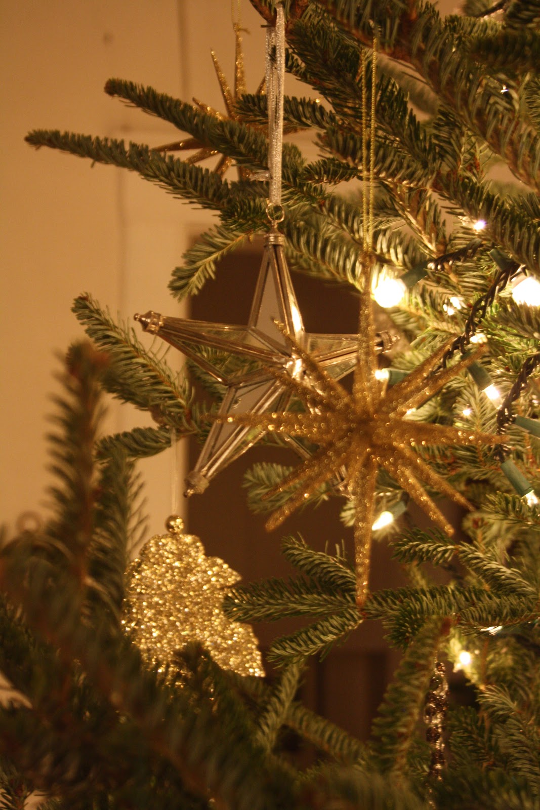 gold and silver christmas tree decor- rebuild health and home
