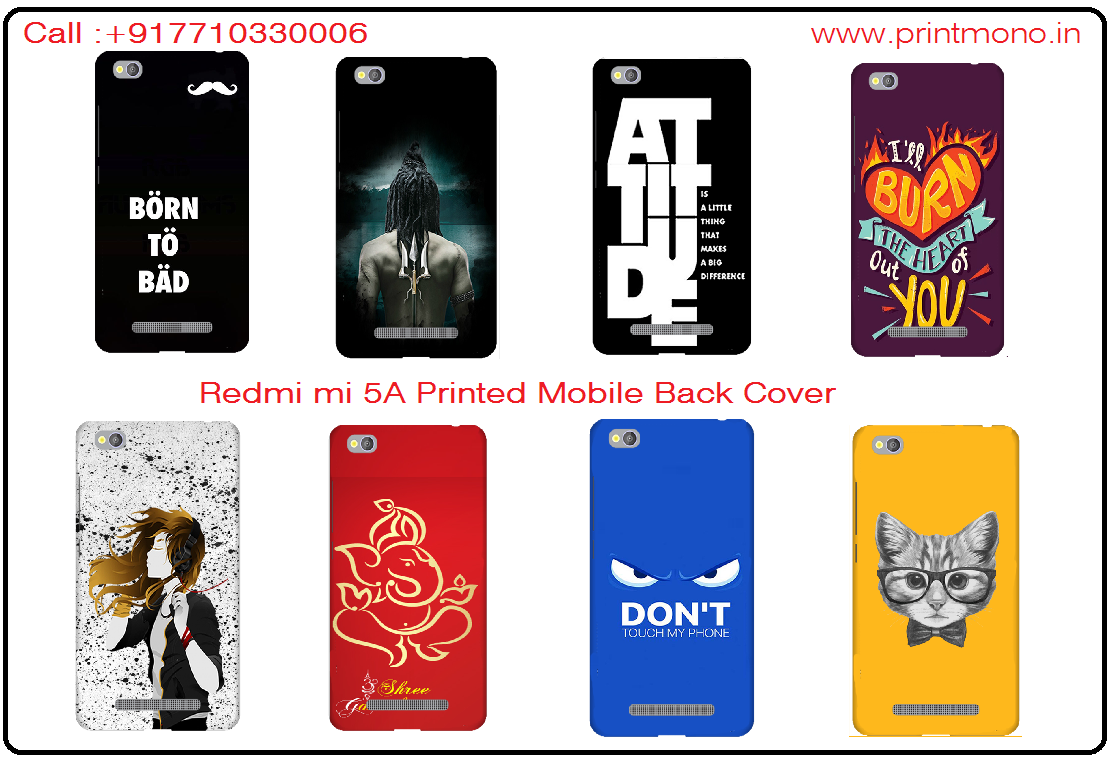 buy popular 2ed63 67716 Xiaomi Redmi 5A Mobile Phone Back Cover Custom Printed Designer