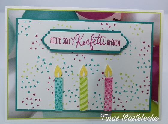 Bunte Geburtstagskarte Mit Perfekter Geburtstag