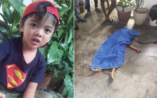 Budak 5 Tahun Maut Ditetak Bapa Ketika Tidur
