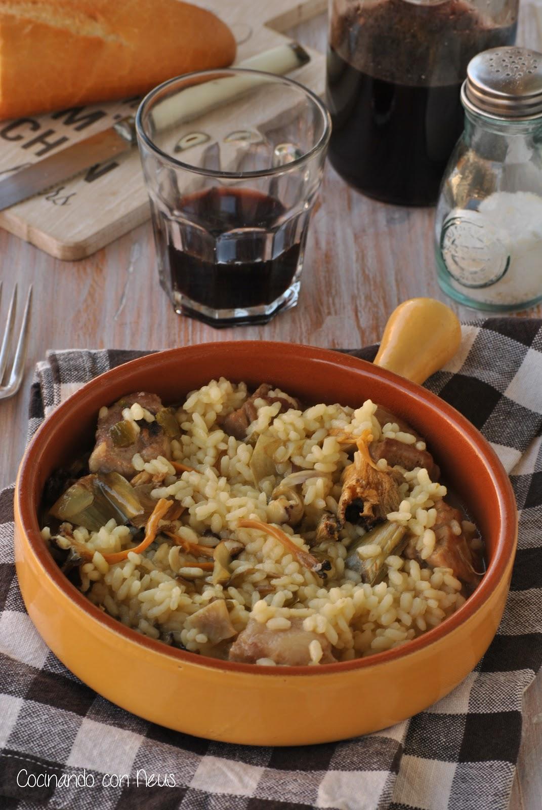 Cocinando con neus arroz con costilla de cerdo y alcachofas - Arroz caldoso con costillas y alcachofas ...