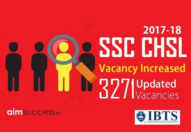 SSC CHSL Vacancy 2017-18 Increased 3271 Updated Vacancies