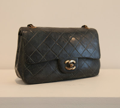 Chanel handbag sculpted and cast in bronze
