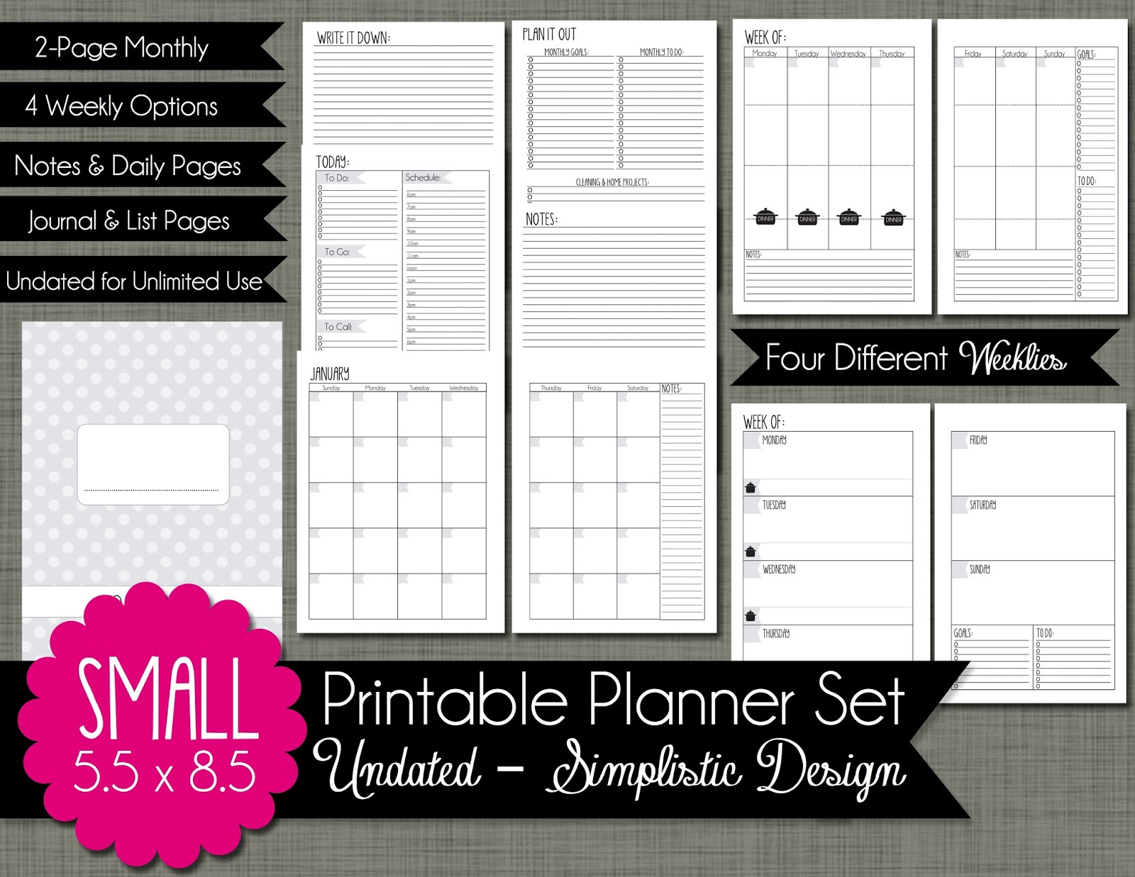 The Polka Dot Posie: Planners