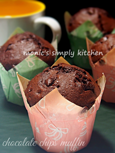 resep chocolate chips muffin