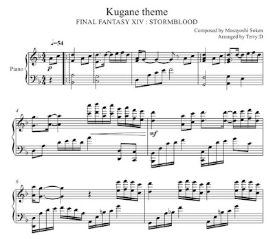 Final Fantasy XIV : Stormblood - KUGANE theme for piano solo (Arr by
