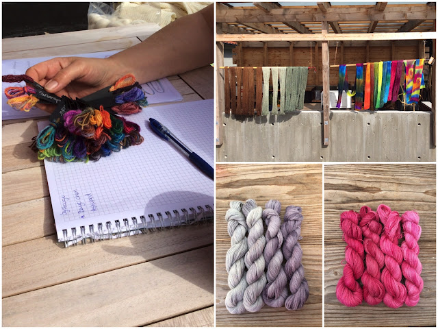 Planning colours for yarn dyes
