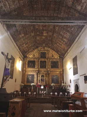 Polychrome woodwork at Temple of Apostle Santiago in Tupataro