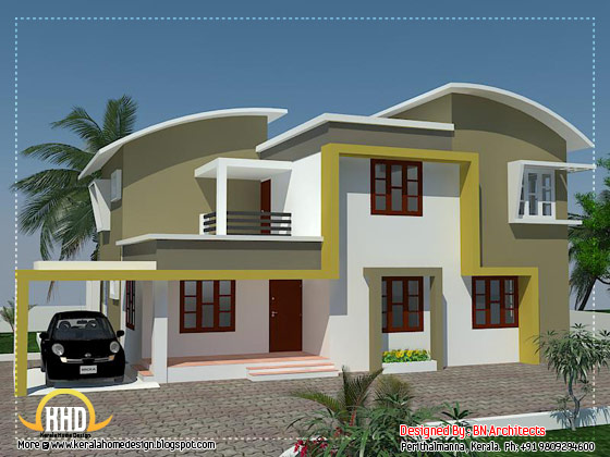 Modern minimalist house in Kerala - 2370 Sq. Ft. (220 Sq. M.) (263 Square Yards) - April 2012