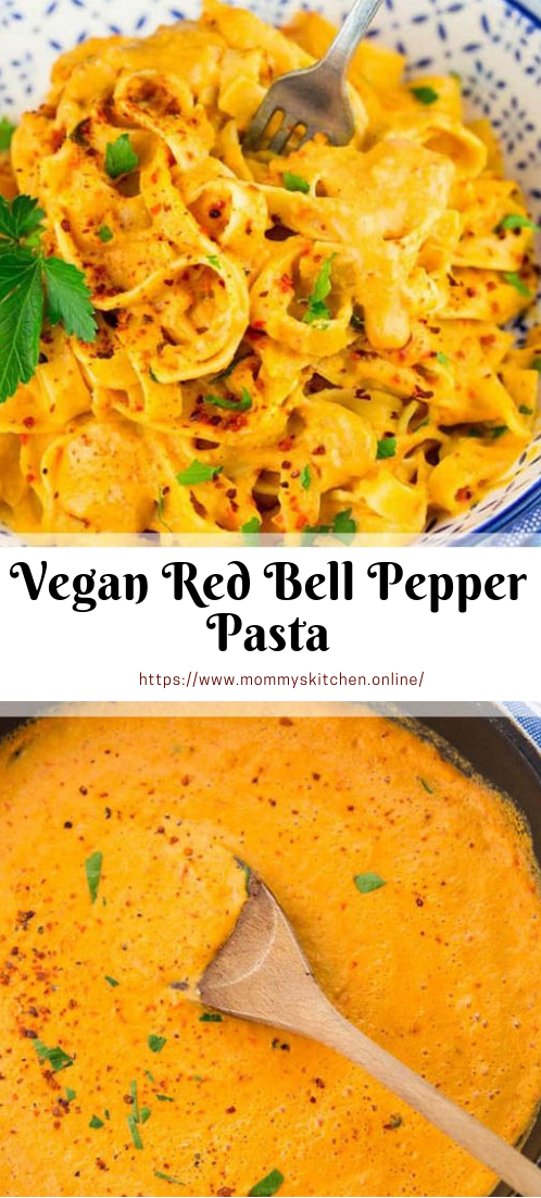 Vegan Red Bell Pepper Pasta #mealrecipe #vegies