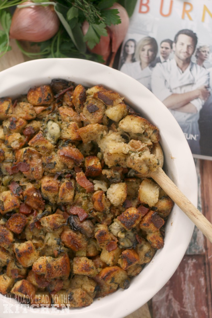 Oyster Stuffing (or Dressing) inspired by Burnt for #FoodnFlix