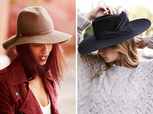 Девушка в фетровой шляпе федоре