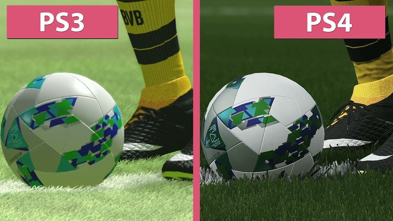 مقارنة رسومات Pes 2018 على Ps3 و Ps4 Gamers Field