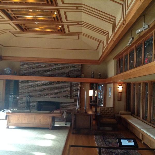 Frank Lloyd Wright room at Metropolitan Museum of Art, NYC