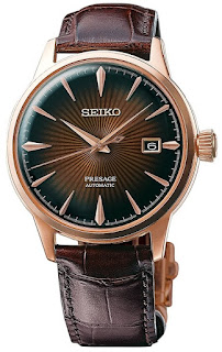 "SEIKO PRESAGE Automatic Brown Gradient Cocktail Time ""Manhattan"" SRPB46J1"