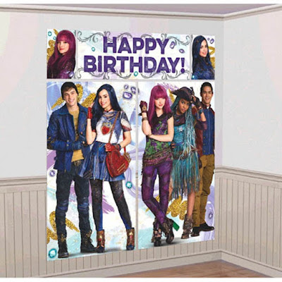 Disney Descendants 2 Scene Setters Wall Decorating Kit-have guests take pictures with the cast