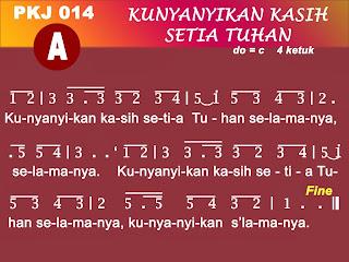 Kord Gitar Lagu PKJ 14 Kunyanyikan Kasih Setia Tuhan