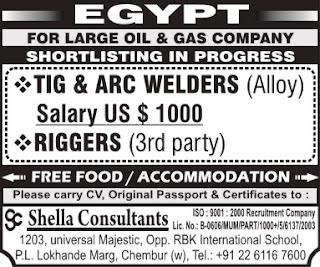 Welders jobs - Oil & Gas company in Egypt